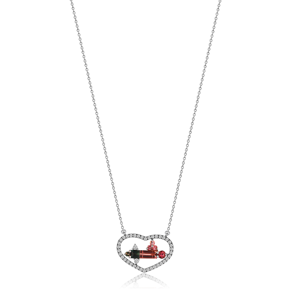 Pura Diamond Heart Necklace